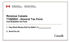 Simplified Canadian Tax Form