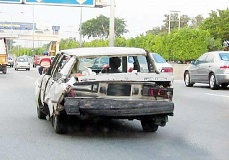 Funny picture of beater car