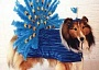 Funny Pictures of Dog With Showgirl Outfit