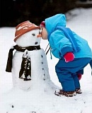 A funny snowman picture
