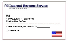 simplified IRS tax form